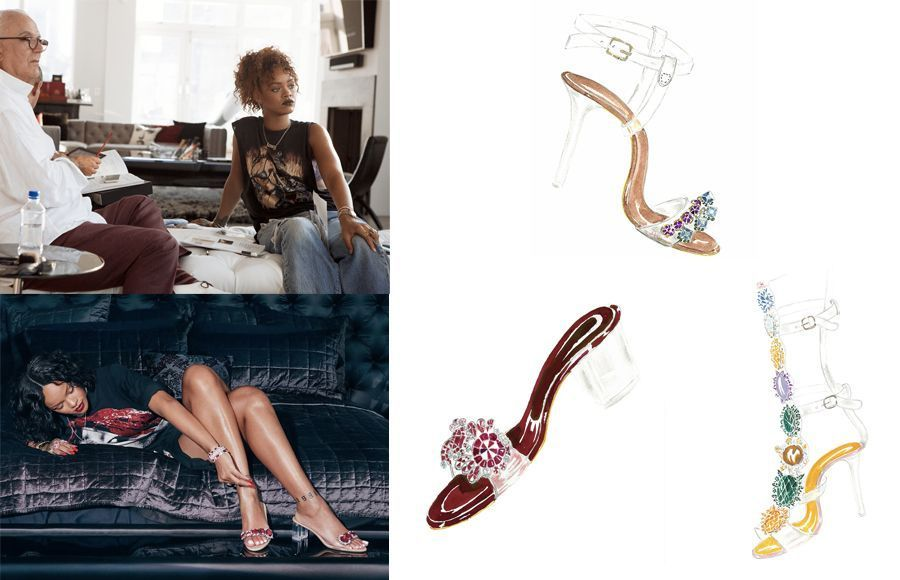 Rihanna X Manolo #Sostoned Collection